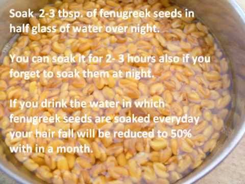 Hair loss treatment with fenugreek seeds