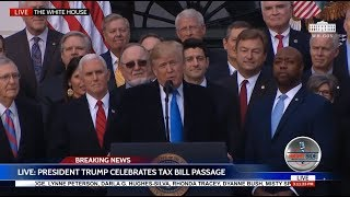 LIVE President Trump On Tax Bill & AT & T Gives 200K Employees $1K Auto Bonuses! Cause More $ Avail!