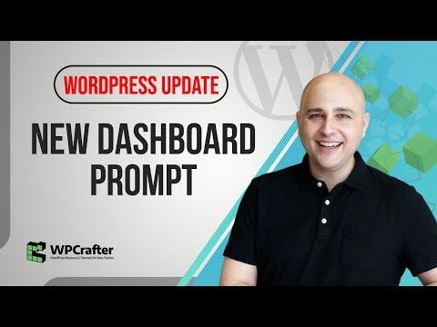 WordPress Update Has Some Surprises - New Dashboard Prompt To Install Gutenberg