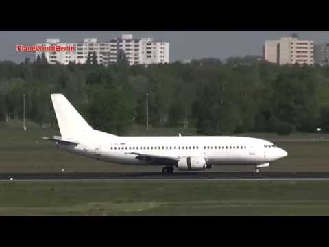 Air Serbia Boeing 737-300 Landing Berlin-Tegel