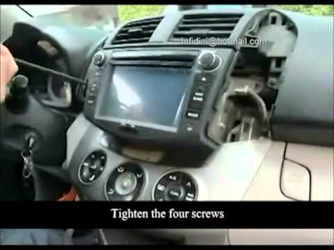 Toyota Rav4 How Do You Install Navigation Dvd Rav4 Fitting
