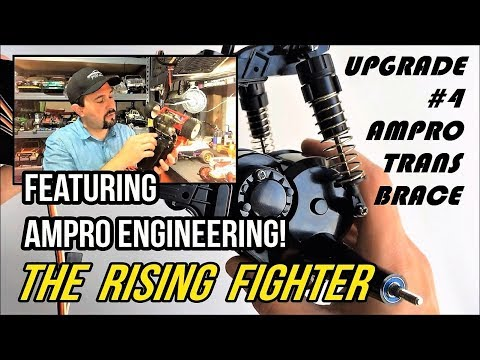 Tamiya: The Rise of THE RISING FIGHTER Step by Step Upgrade #4 - AMPRO Transmission Brace!