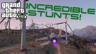 GTA V | Awesome Fighter Jet Stunts! (GTA 5)