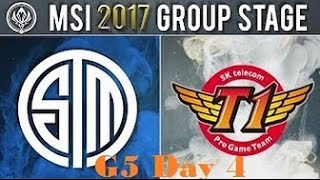 TSM vs SKT || MSI 2017 Group Stage Day 4 || Team Solo Mid vs SKT T1