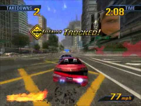 Burnout 3 emulated on PCSX2 0.9.7 (r3876) DX10