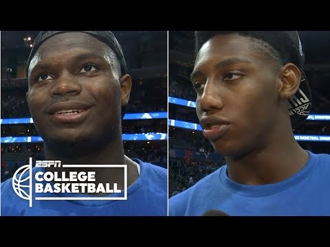 Zion Williamson, RJ Barrett came to Duke to win titles | College Basketball