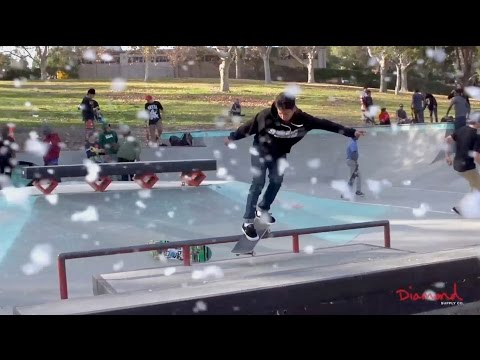 Diamond Supply Co. Holiday BBQ 2015 - Skateboarding In the Snow