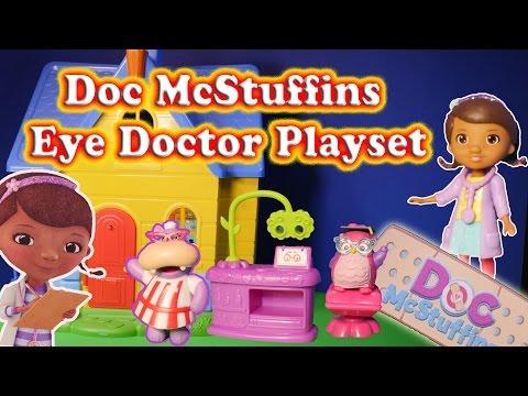 DOC MCSTUFFINS Disney Junior Doc McStuffins Eye Doctor Set a Doc McStuffins Toy Video