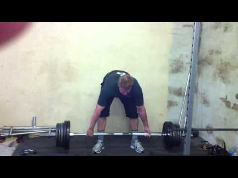 The Klusener Machine with the 170kg snatch grip deadlift.