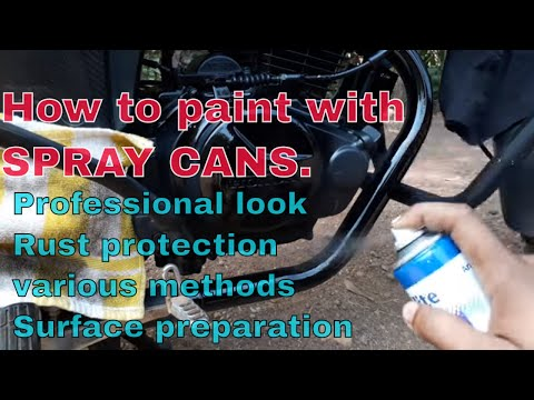 How to Paint with Aerosol Spray Cans.