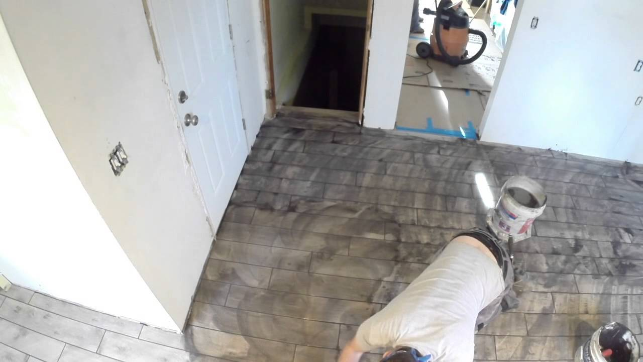 How to grout floor tile youtube