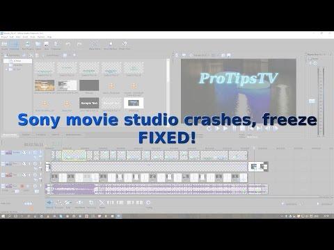 Sony Movie Studio crashes, freeze FIXED!