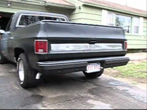 Chevy C10 Cammed 350 Thrush Welded Mufflers Flowmaster Pipes Music Videos