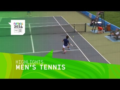 Men's Tennis Quarter Final - Highlights | Nanjing 2014 Youth Olympic Games