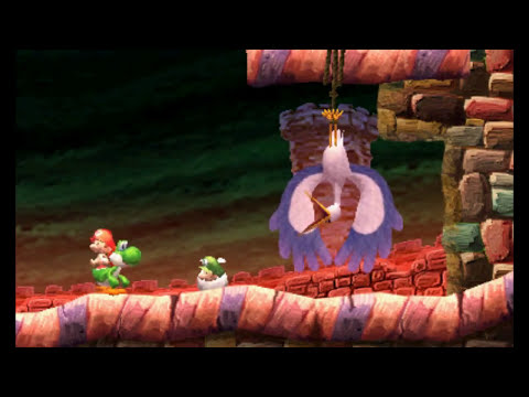All Boss Fights in Yoshi's New Island (3DS)