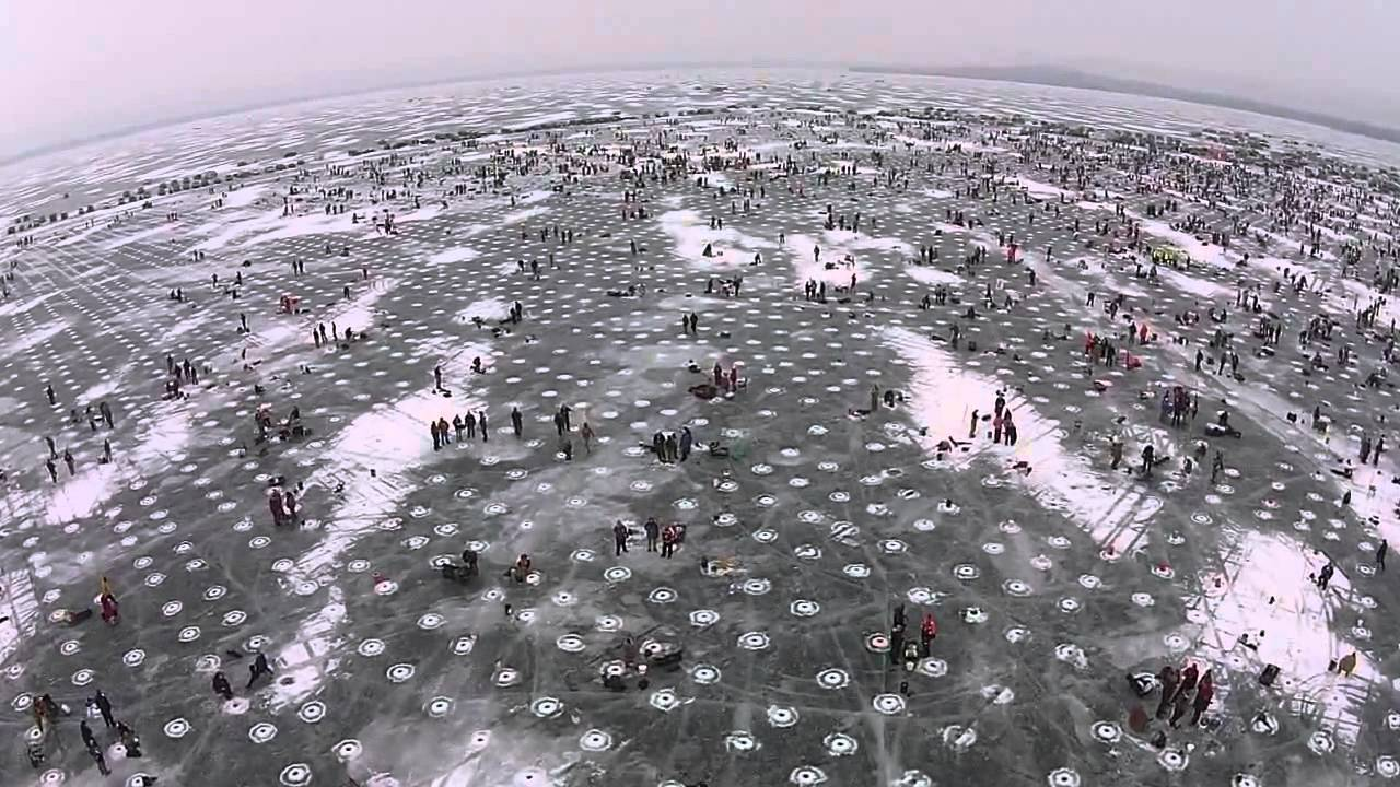 Largest Charitable Ice Fishing Contest In The World Youtube