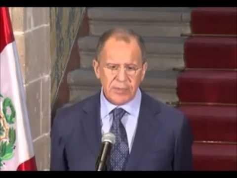 Ministro de Relaciones Exteriores Ruso Sergey Lavrov en Lima