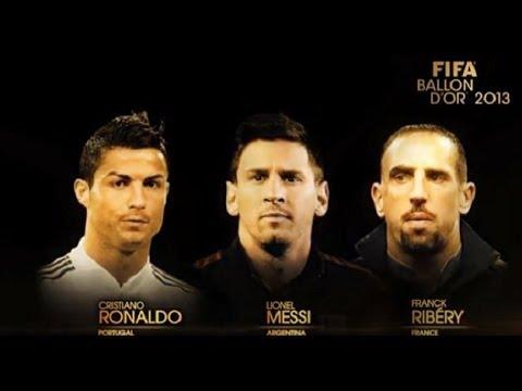 Finalistas .FIFA Ballon D´OR 2012 / 2013 .C.Ronaldo,Messi & Iniesta.