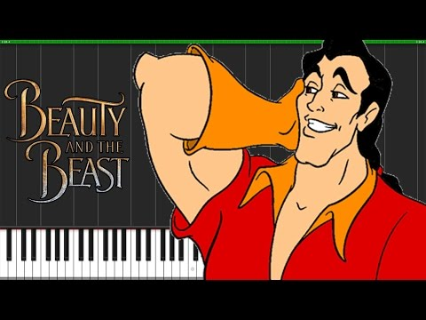 Gaston - Beauty and the Beast [Piano Tutorial] (Synthesia) // Piano Man