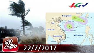 Bão số 3 giật cấp 10 nối đuôi áp thấp vào biển Đông | Chuyện 22 giờ - 22/7/2017