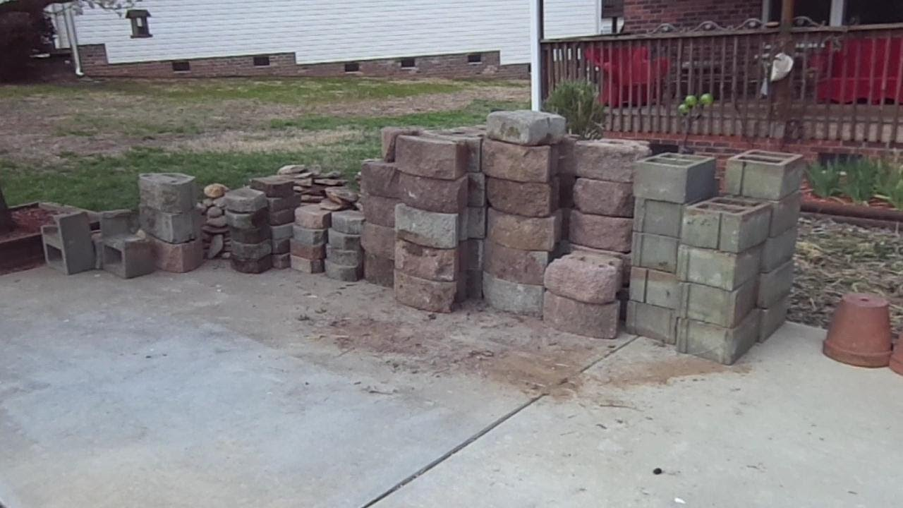 Concrete retaining wall cheap from craigslist youtube for Cheap garden wall ideas