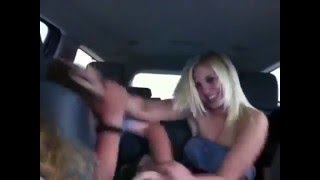 Teenage Brother & Sister Throw Down in Back Seat