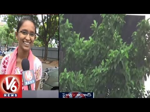 Sudden Change Of Weather In Hyderabad | Rains Hits Several Areas Across City | V6 News