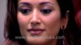 Ashutosh Gowariker and actress Gayatri Joshi at premiere of film Swades