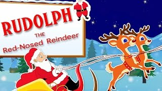 Rudolph The Red Nosed Reindeer | Popular Christmas Carols With Lyrics For Kids