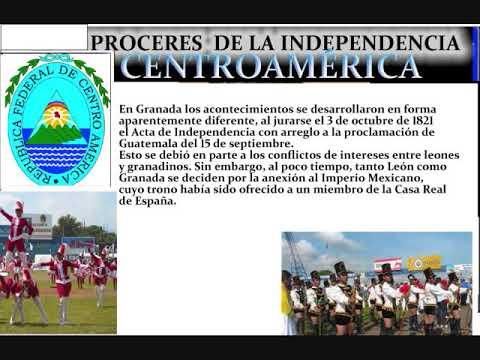 Próceres de la Independencia de Centroamérica 2 manfut