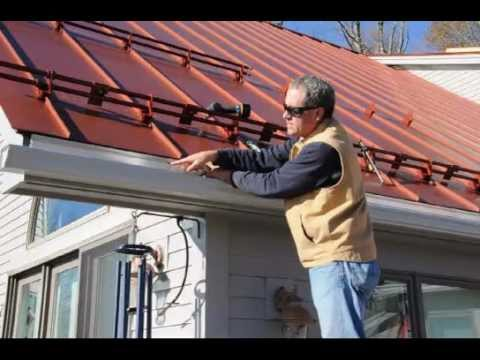 Vermont Metal Roofs Get Ice Dams Too Youtube