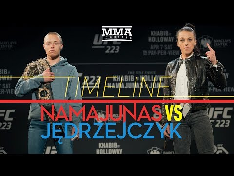 UFC 223: Rose Namajunas vs. Joanna Jedrzejczyk 2 Timeline - MMA Fighting