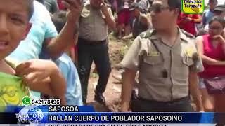 TARAPOTO NOTICIAS: HALLAN CUERPO DE POBLADOR SAPOSOINO QUE DESAPARECIÓ EN EL RÍO SAPOSOA .