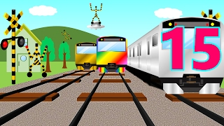 Numbers Counting to 15 with train for Kids and children