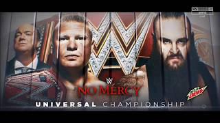 WWE No Mercy 2017 Brock Lesnar vs Braun Strowman Match Card (Updated)