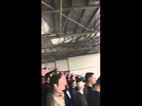 "Cardiff fans at Fulham yesterday... ""You English b*stards, we'll see you in France""."