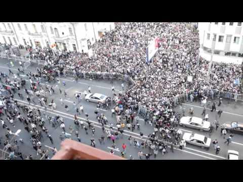 Праздник мусульман в Москве.Прорыв отцепления