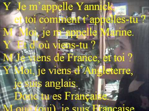 leren de Fransman: verschijnen en beantwoorden de vragen