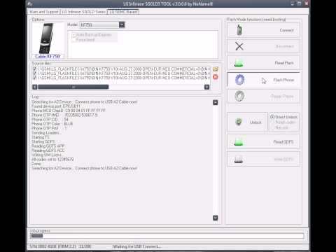 LG KF750 Flashing and Unlocking with Z3X Release Video