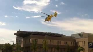 Mentőhelikopter - HA-ECD - Eurocopter EC135 - felszállása Veszprém Csolnoky Ferenc Kórház