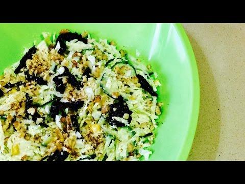 Фото рецепт салата лужок с капустой