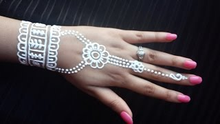 White Henna Design - Simple and Easy Mehendi - How to Apply White Henna