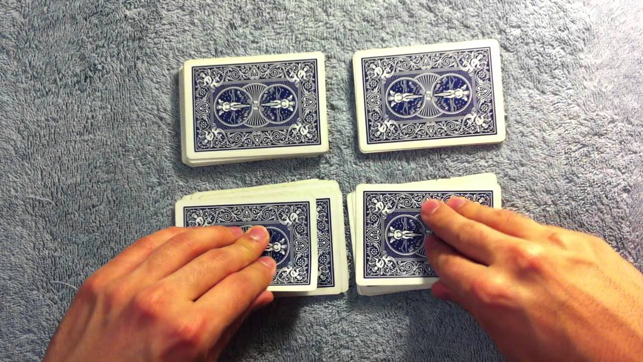 four aces card trick youtube