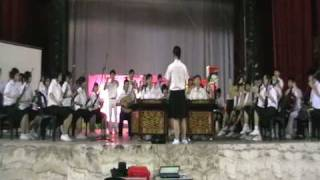 YUK CHOY HIGH SCHOOL CHINESE ORCHESTRA plays TAI SHAN SONG; conducted by MAGGIE LEONG MEI KAY