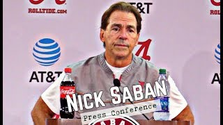 Nick Saban Press Conference during the bye week