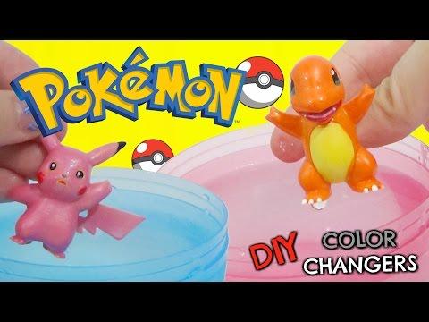 DIY POKEMON GO Color Changing Nail Polish Do It Yourself IRL with Charmander and Pikachu