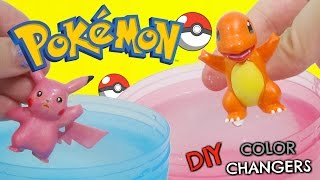 DIY POKEMON GO Color Changing Nail Polish Do It Yourself IRL with Charmander and Pikachu