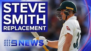 Marnus Labuschagne steps up to replace Steve Smith in Third Ashes Test | Nine News Australia