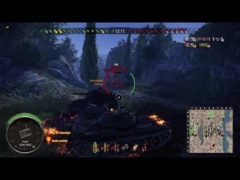 WORLD OF TANKS PS4 ESPAÑOL / T54 - 3 vs 8