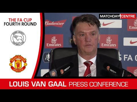 Derby County vs Manchester United : Louis Van Gaal Press Conference